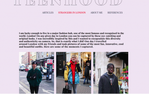 Carolina made a website about teen fashion. Check out some screenshots!
