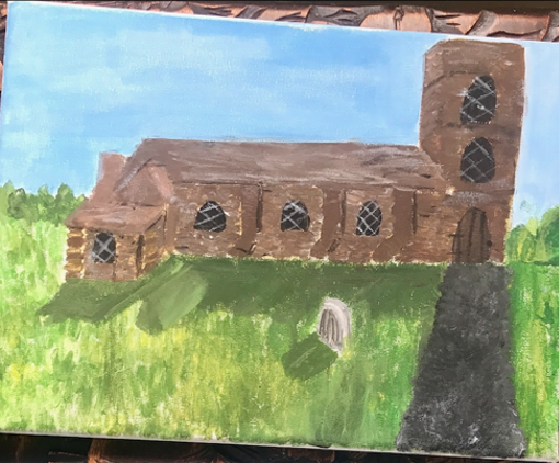 Object 2: My painting of a Church