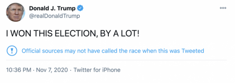 Object 1: Tweet made by former president Trump