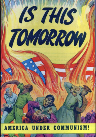 Object 3:  1947 propaganda poster on the 'Second Red Scare'